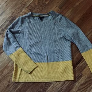 Tommy Hilfiger Gray & Yellow Colorblock Sweater